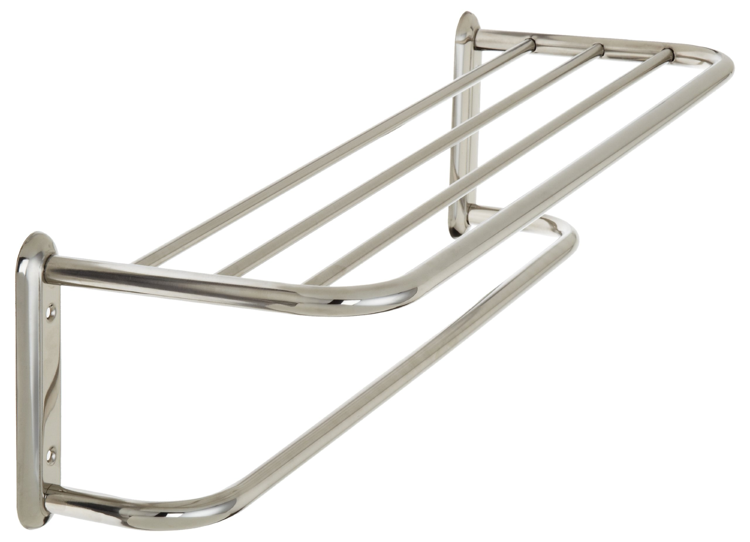 Taymor Hotel 24-Inch Upgraded Stainless Steel Towel Shelf with Single bar