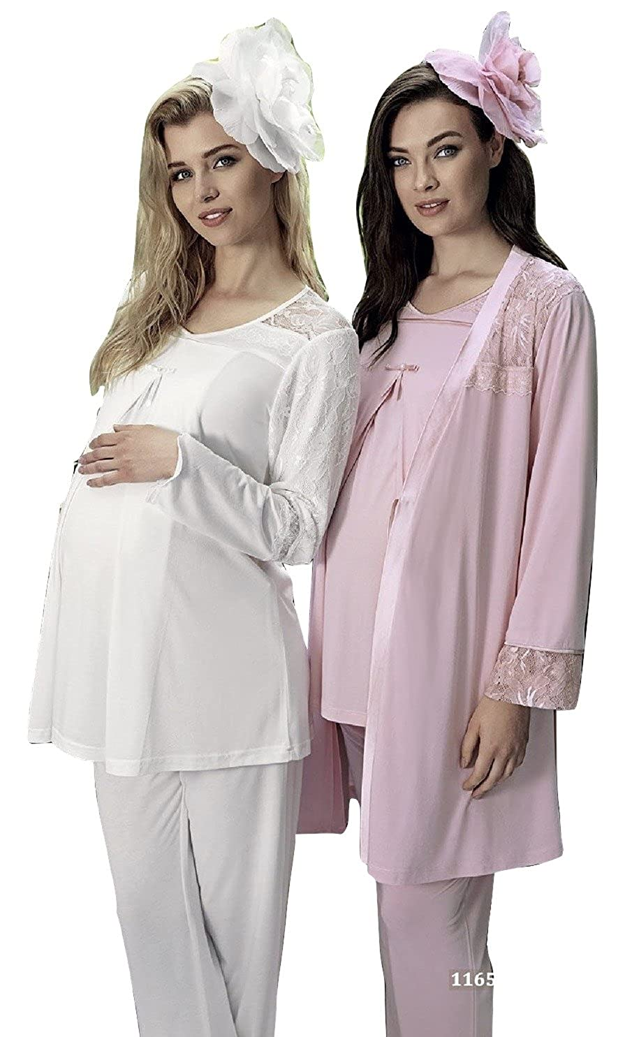 Artis 3 Piece Maternity & Nursing Pajama Set Style #1165: Exclusive Series