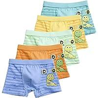 XPXGMT 5 Pack Strip Boys Boxer Breves Pantalones Cortos Algodón Niño Ropa Interior Para Niños 2-11 Años