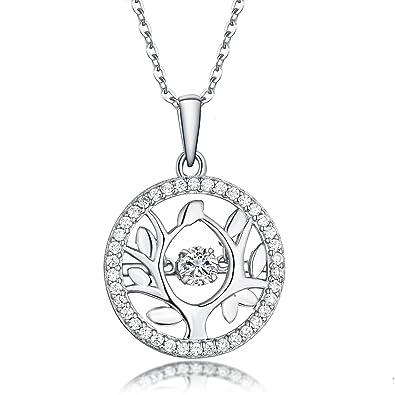 740755587d0 YL Arbre de Vie Collier Femme Bijoux en Argent Sterling 925