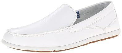 Rockport Men's Bennett Lane 3 Cape Noble 3 Venetian White Washable Leather  6.5 W (EE