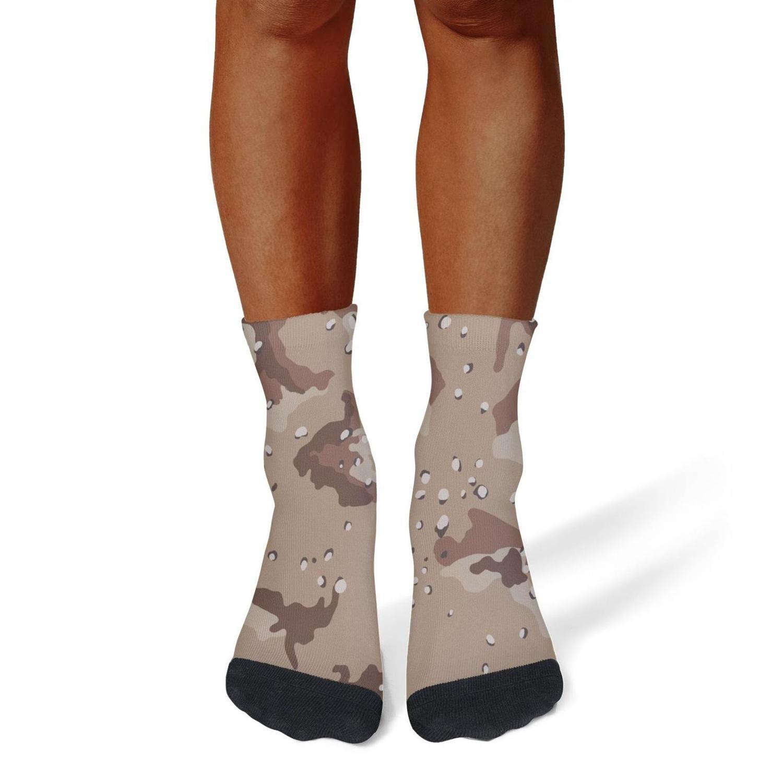 XIdan-die Mens Athletic Crew Socks dot camouflage Moisture Wicking Casual Socks