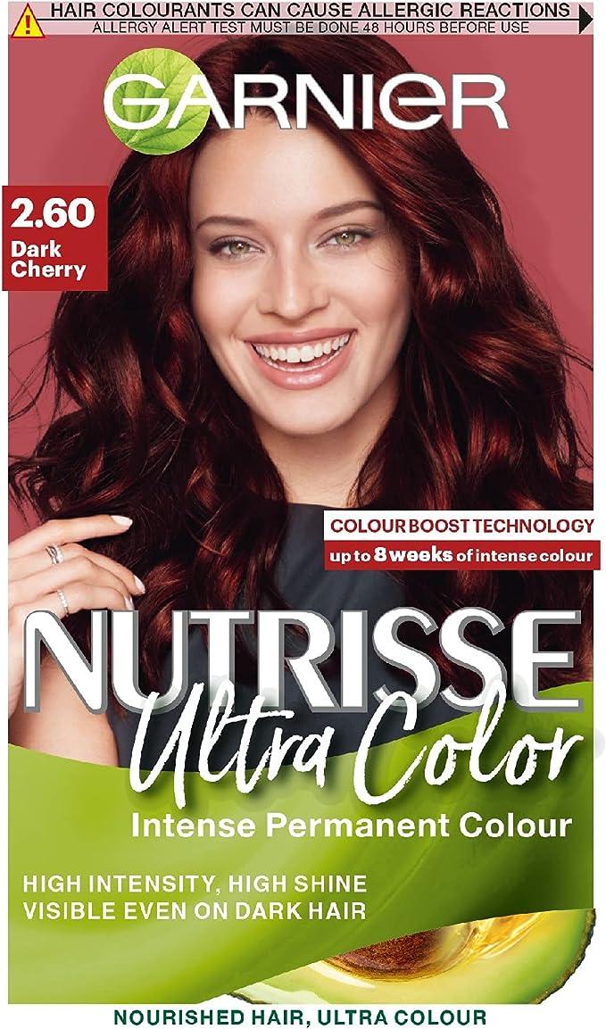 Garnier Nutrisse 2.6 - Tinte para el cabello permanente, Dark Cherry Red