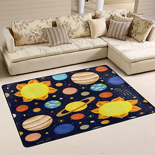 ALAZA Cartoon Space Solar System Planet Universe Area Rug