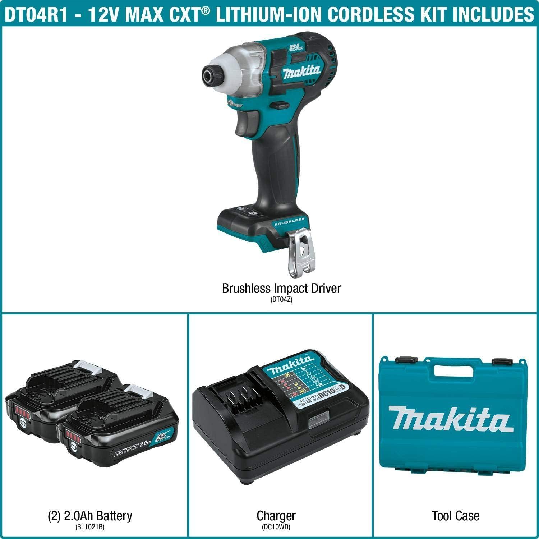 12V MAX CXT Impact Driver Kit MKT-DT04R1 Brand New!