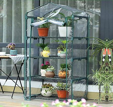 Invernadero del jardín 4to Piso Invernadero del jardín Adecuado para Plantas de Flores Tienda de Invernadero de Planta al Aire Libre Caliente (Color : A): Amazon.es: Hogar