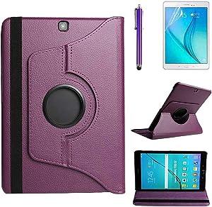 R.SHENGTE Funda Caso para Samsung Galaxy Tab S2 9.7 (SM-T810 SM-T813 SM-T815) - 360 Giratorio Completo Protector Estar Caso,Regalos de bonificación (Purple)