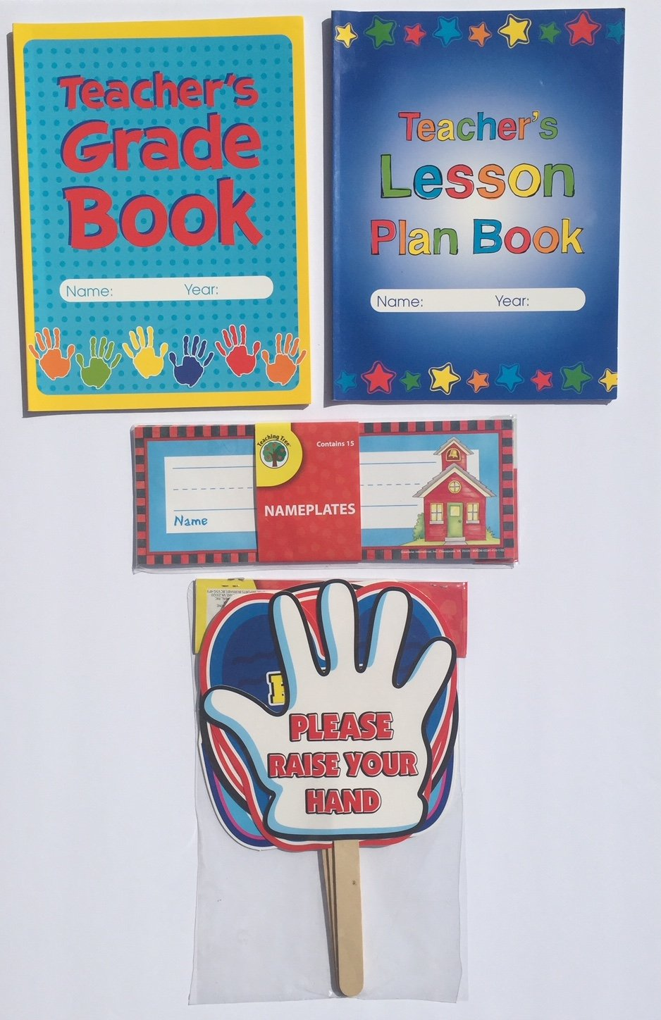 Teacher Grade Lesson Plan Book Teaching School Planner Classroom Signs Student Desk Name Tags Nameplates Supplies Gifts