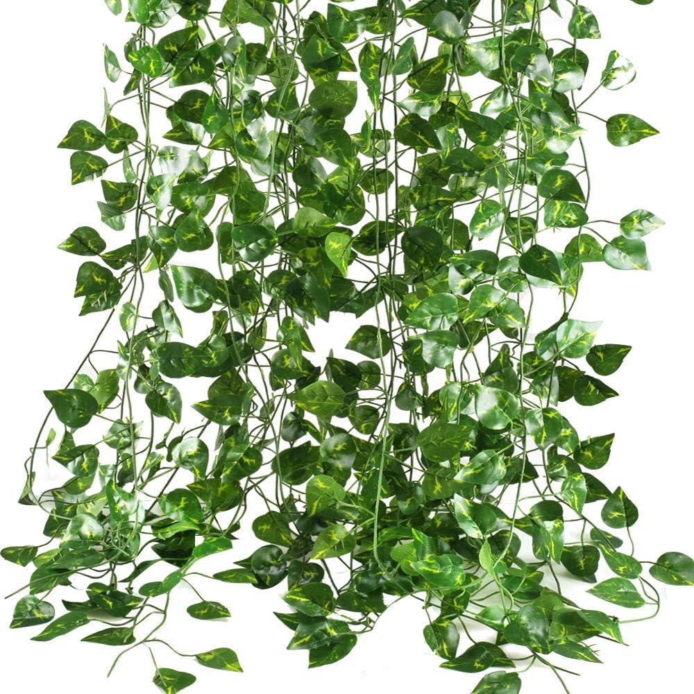 Huaesin 12 2 1m Efeu Kunstliche Hangend Pflanze Girlande
