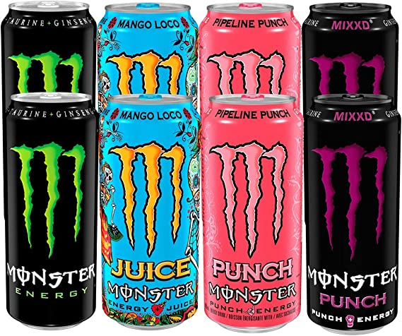 Monster Energy Drink Mixed Case Of 24 X 500ml Pipeline Punch Mango Loco Punch Original Amazon Co Uk Grocery