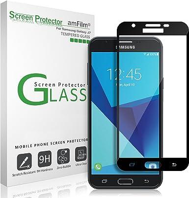 amFilm Protector de pantalla de cristal para Galaxy J7 V 2017 Dot ...