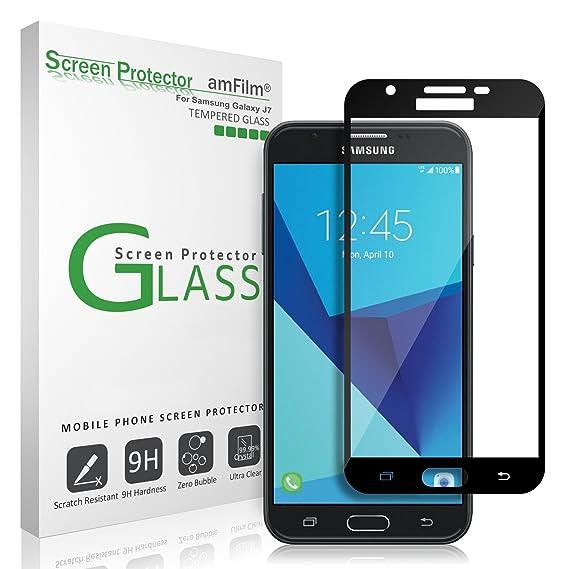 Amazon Com Galaxy J7 V 2017 Screen Protector Glass Full Screen