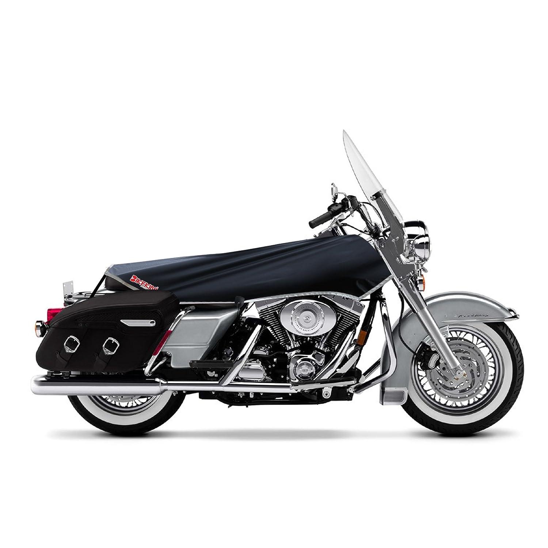 Impermeable para motocicleta para grandes V-Twin s negro//plata