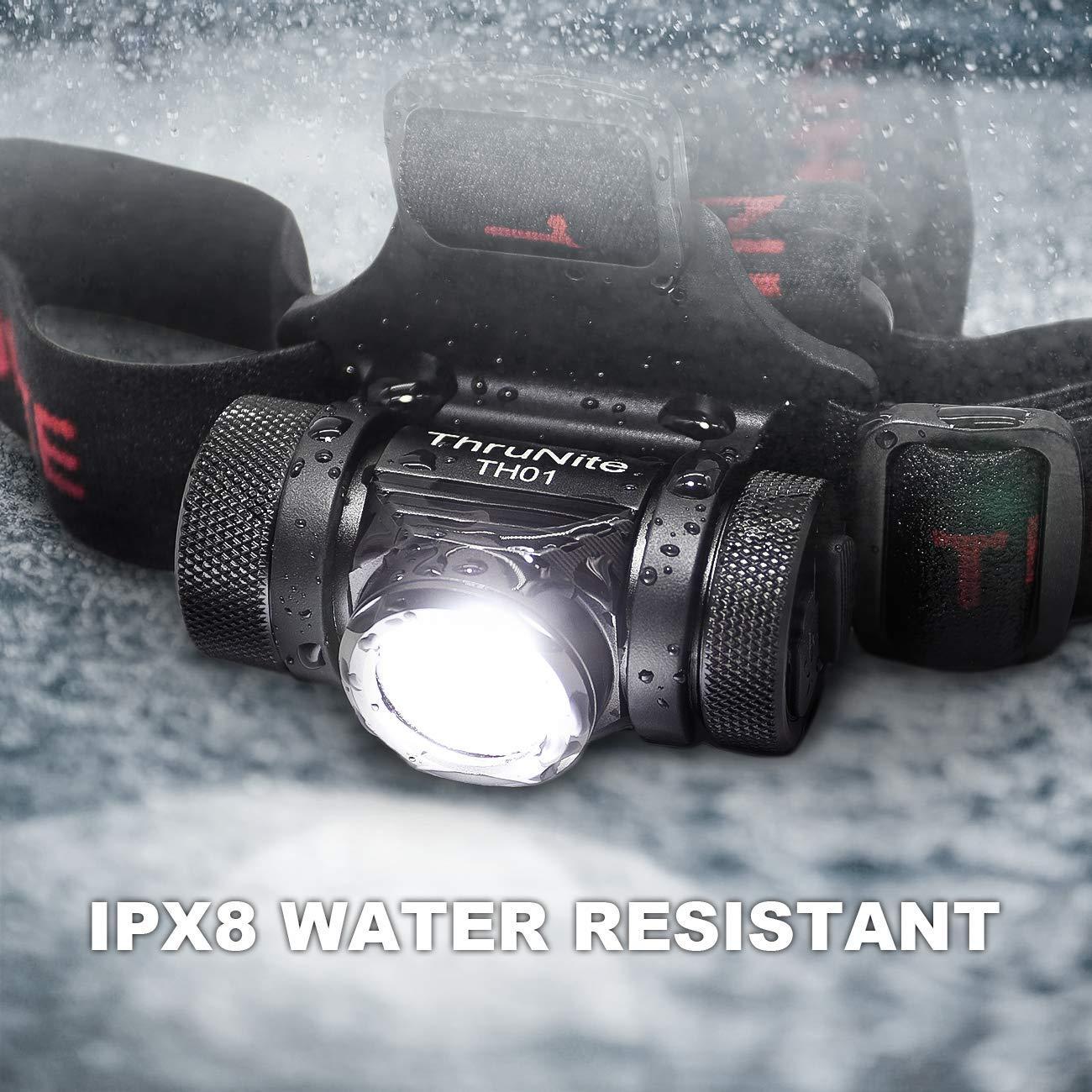 Blanc Neutre NW ThruNite TH01 Lampe Frontale,Torche Frontale LED Rechargeable de 1 500 lumens,CREE XHP50 avec batterie 18350,Lampes Frontales /Étanche IPX-8 pour P/êche,Camping,Randonn/ée P/édestre
