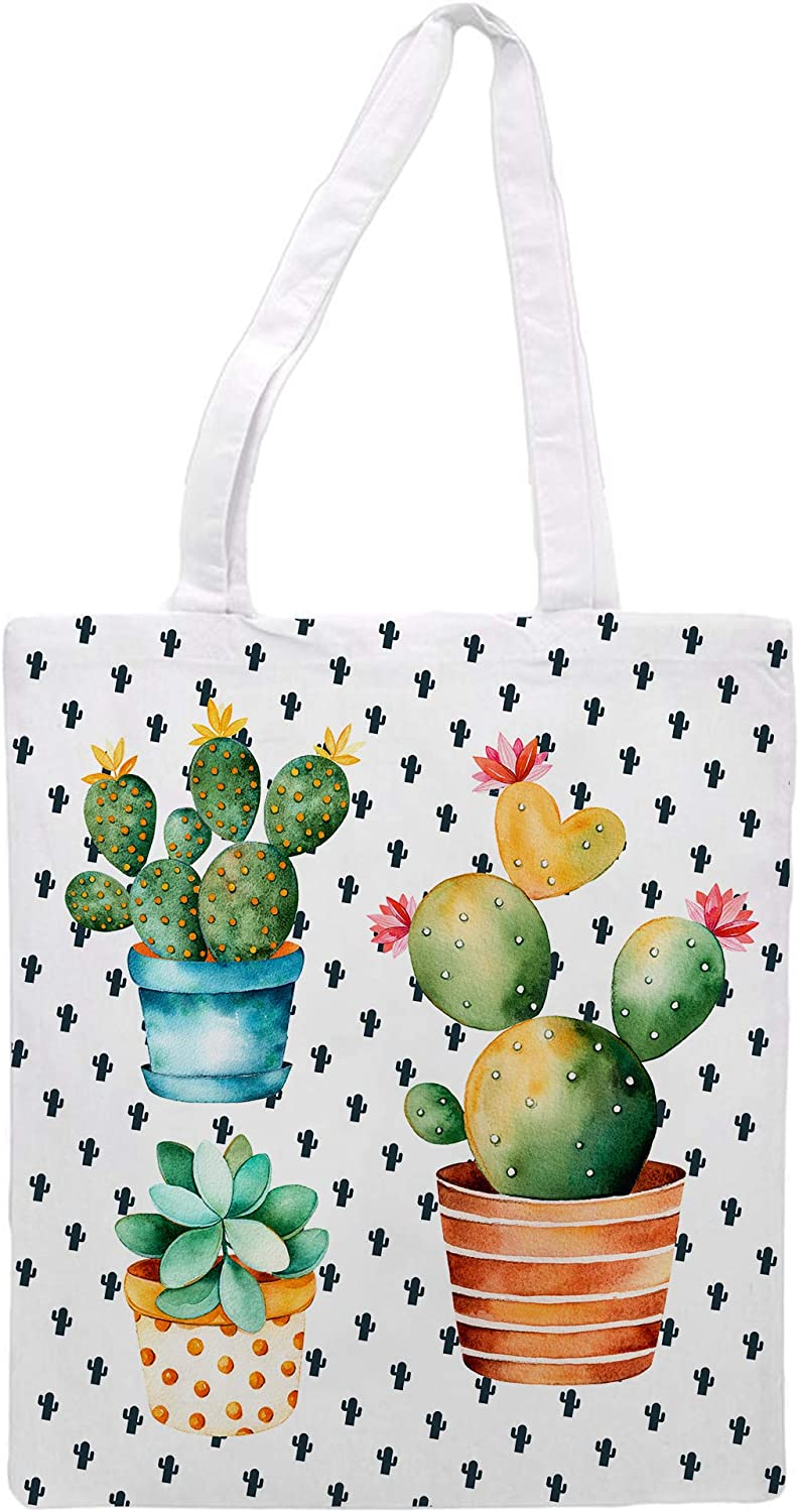 Women's tote bag/Cactus edition background cactus - Sports Gym Lunch Yoga Shopping Travel Bag Washable - 1.47X0.98 Ft /