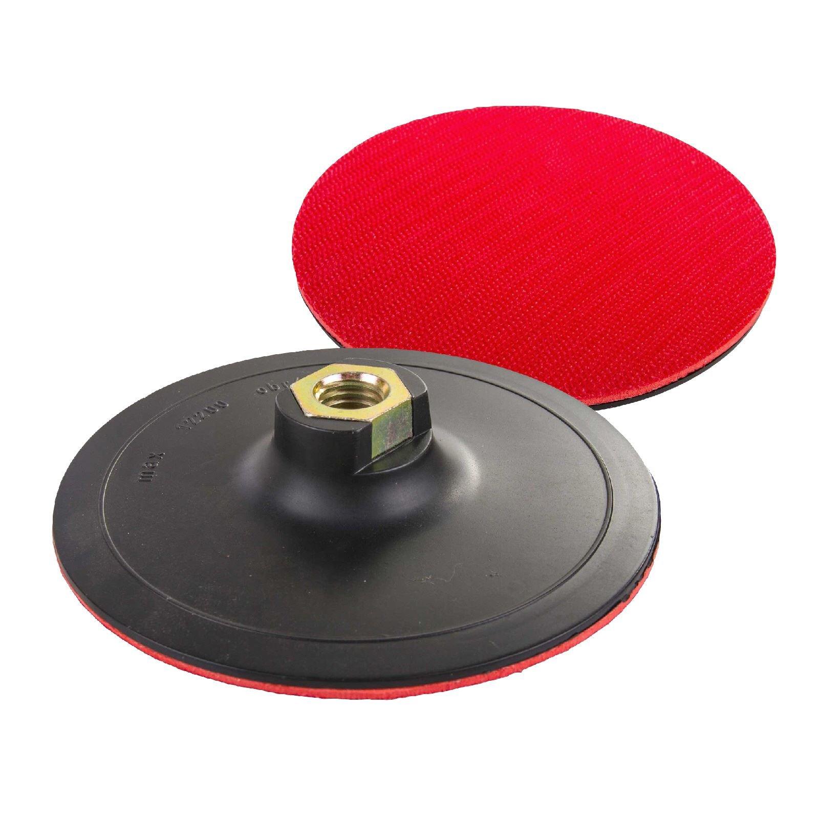 H-Smart Hook & Loop 125mm Rubber Backing Pad for Angle Grinder Sander Polisher Discs M14