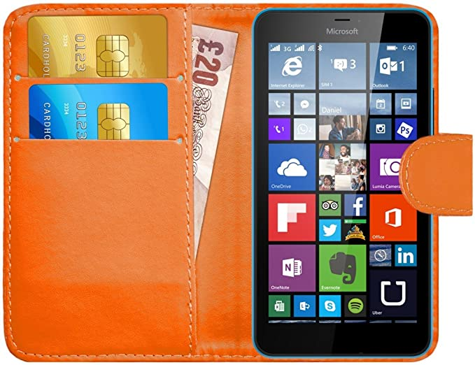 2 opinioni per Custodia Lumia 640, G-Shield Custodia Portafoglio in Pelle [Porta Carte di