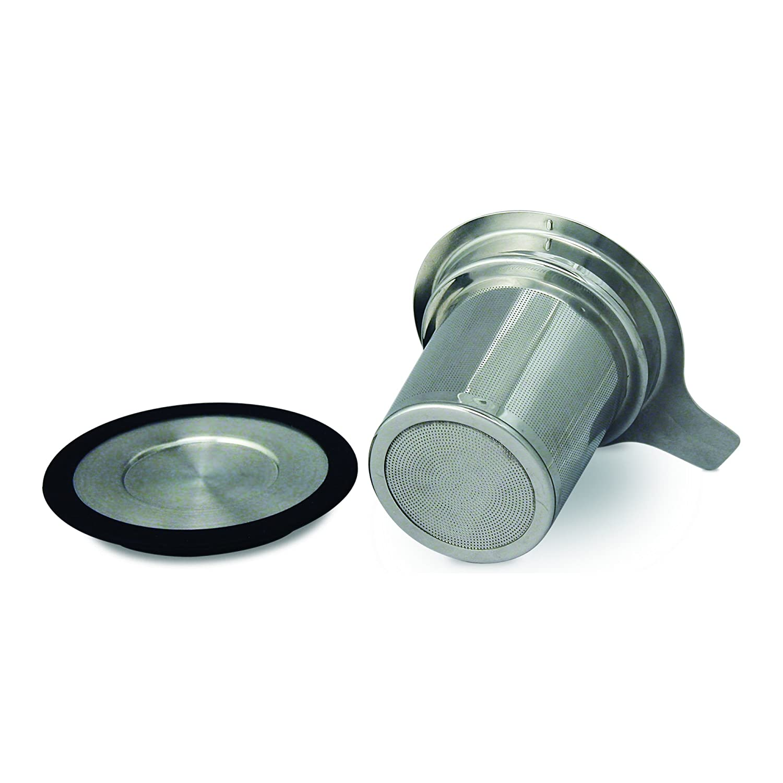 FORLIFE Brew-in-Mug Extra-Fine Tea Infuser with Lid 433-BLK