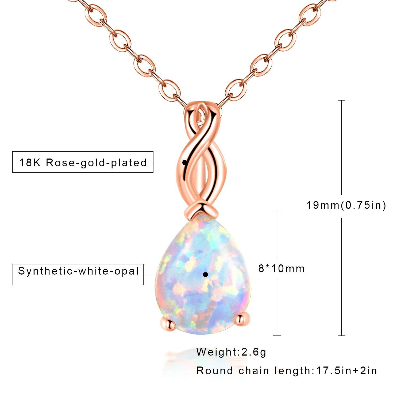 Amazon Opaltop Pear White Fire Opal Pendant Necklace Teardrop