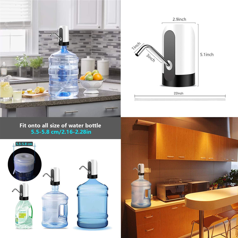 Dispensador de Agua, Bomba de Agua de Carga USB, extraíble, Apto para Usar en Agua embotellada, dispensador de Agua para garrafas