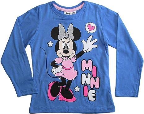 Minnie Mouse Langarmshirt Disney Maus M/ädchen