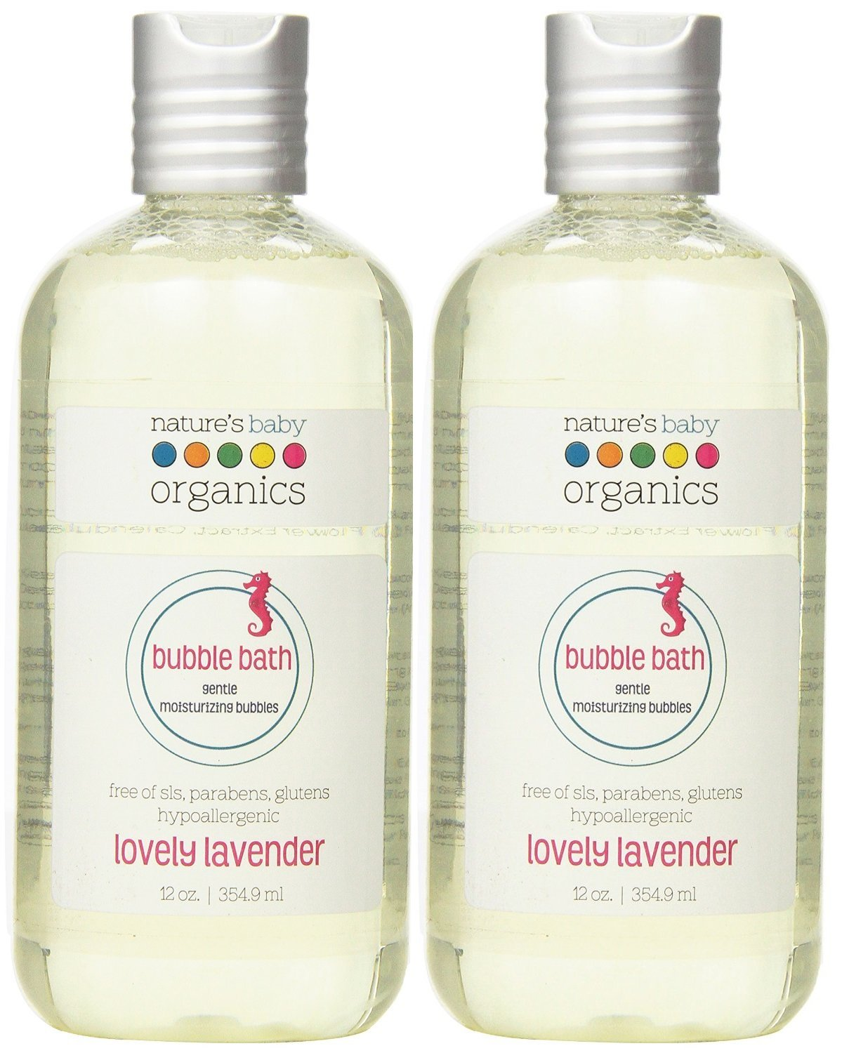 Nature's Baby Organics Moisturizing Bubble Bath, Lovely Lavender, 12 oz Pack of 2 - Made with Organic Ingredients, Cruelty Free, Hypoallergenic, No Parabens or Glutens by Nature's Baby Organics