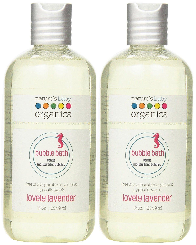 Nature's Baby Organics Moisturizing Bubble Bath, Lovely Lavender, 12 oz. (Pack of 2)
