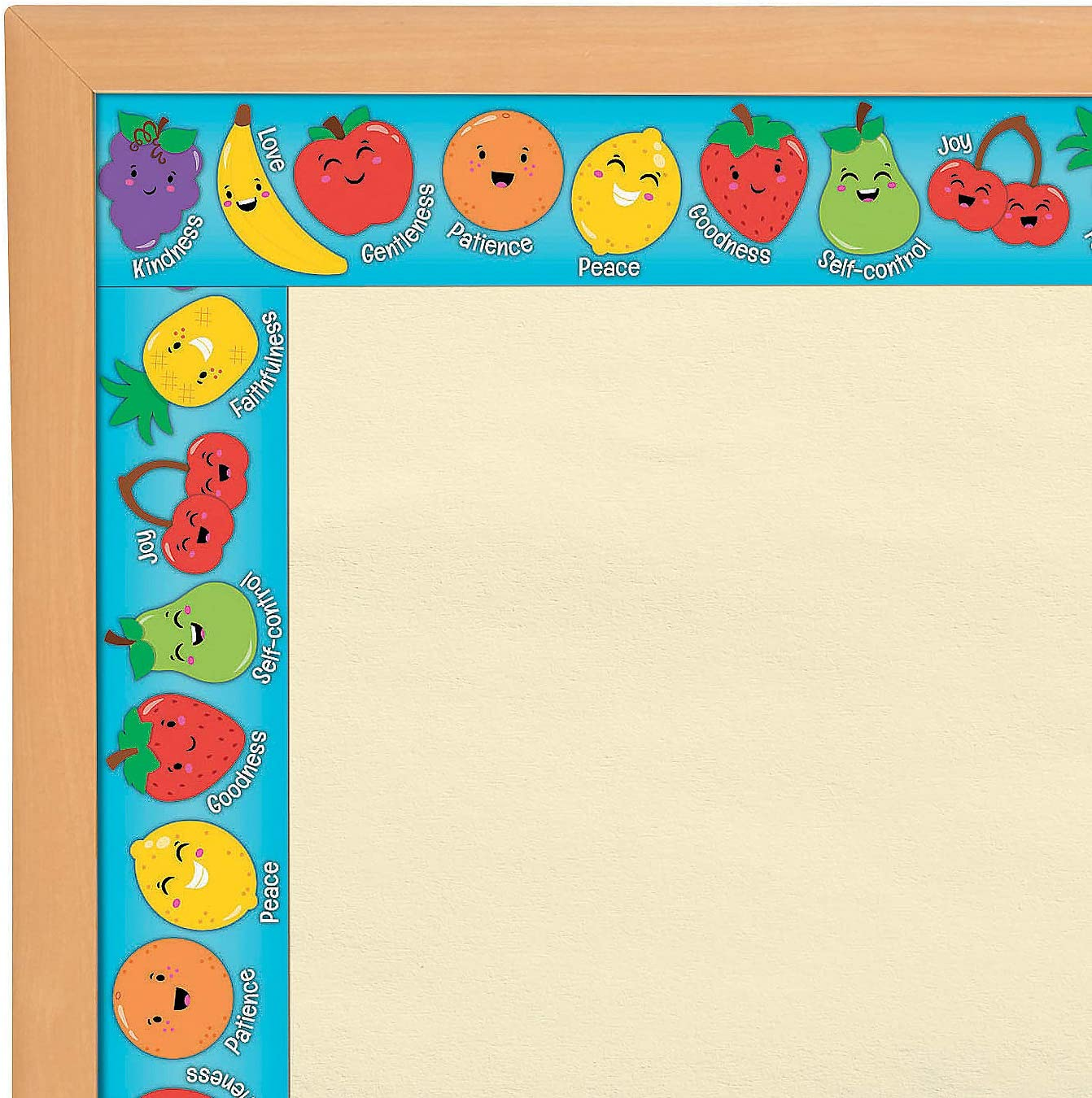 Fun Express Fruit of The Spirit Border - 12 Pieces - Educational and Learning Activities for Kids