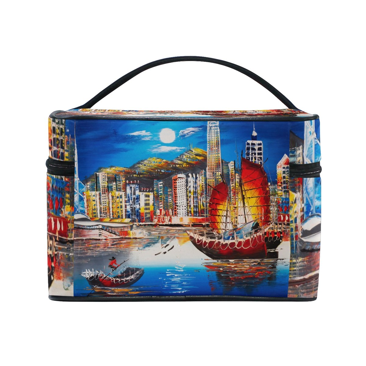 My Daily Women Tote Shoulder Bag Victoria Harbor Hong Kong Sailboat Oil Painting Handbag Large