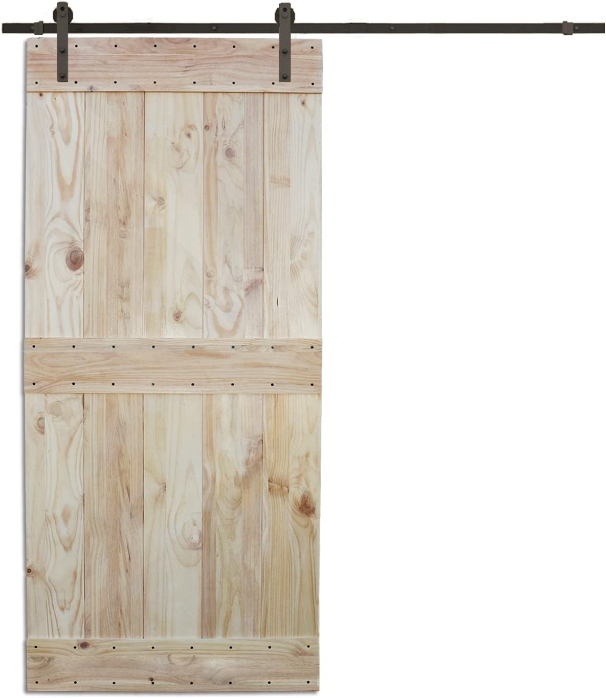 6 ft Puerta Corredera hardware set con dos mid-bar placa de madera ...