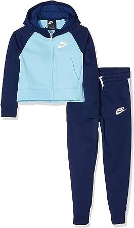 Nike G NSW TRK PE Chándal, Azul/Blanco (Void/Chill), S para Niñas ...