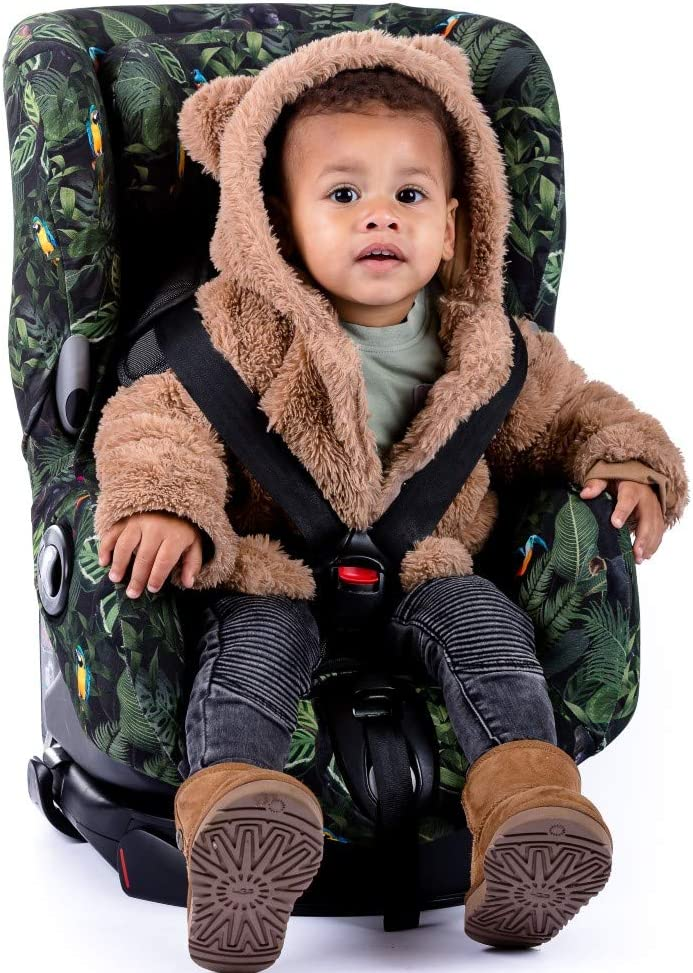 Ukje Car Seat Covers in Cotton Oeko-Tex for Maxi-COSI Axiss Toddler Car Seat Group 1 9 Months-4 Years Keep Your Baby Car Seat Clean Reduce Sweating and Keep Your Baby Warm Jungle