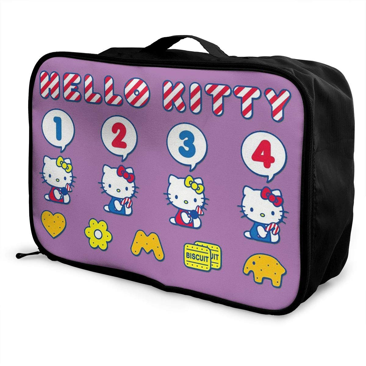 Women Travel Duffel Bag Hello Kitty Cartoon Handbags weekend trip tote Luggage