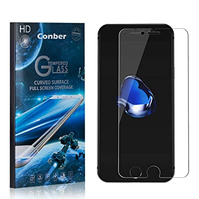 Conber (1 Pack) Screen Protector for iPhone 8 / iPhone 7, [Scratch-Resistant][Anti-Shatter][Case Friendly] Premium Tempered Glass Screen Protector for iPhone 8 / iPhone 7: Baby