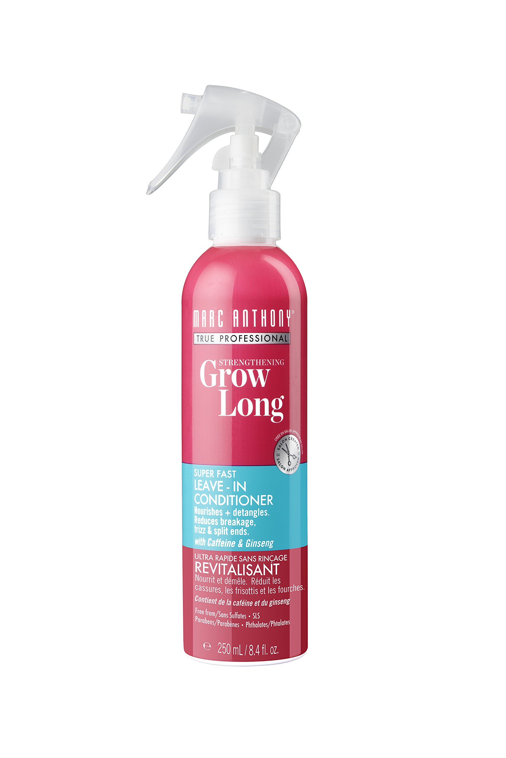 Marc Anthony Strengthening Grow Long Super Fast Leave-in Conditioner, Caffeine & Ginseng , 8.4 Ounces