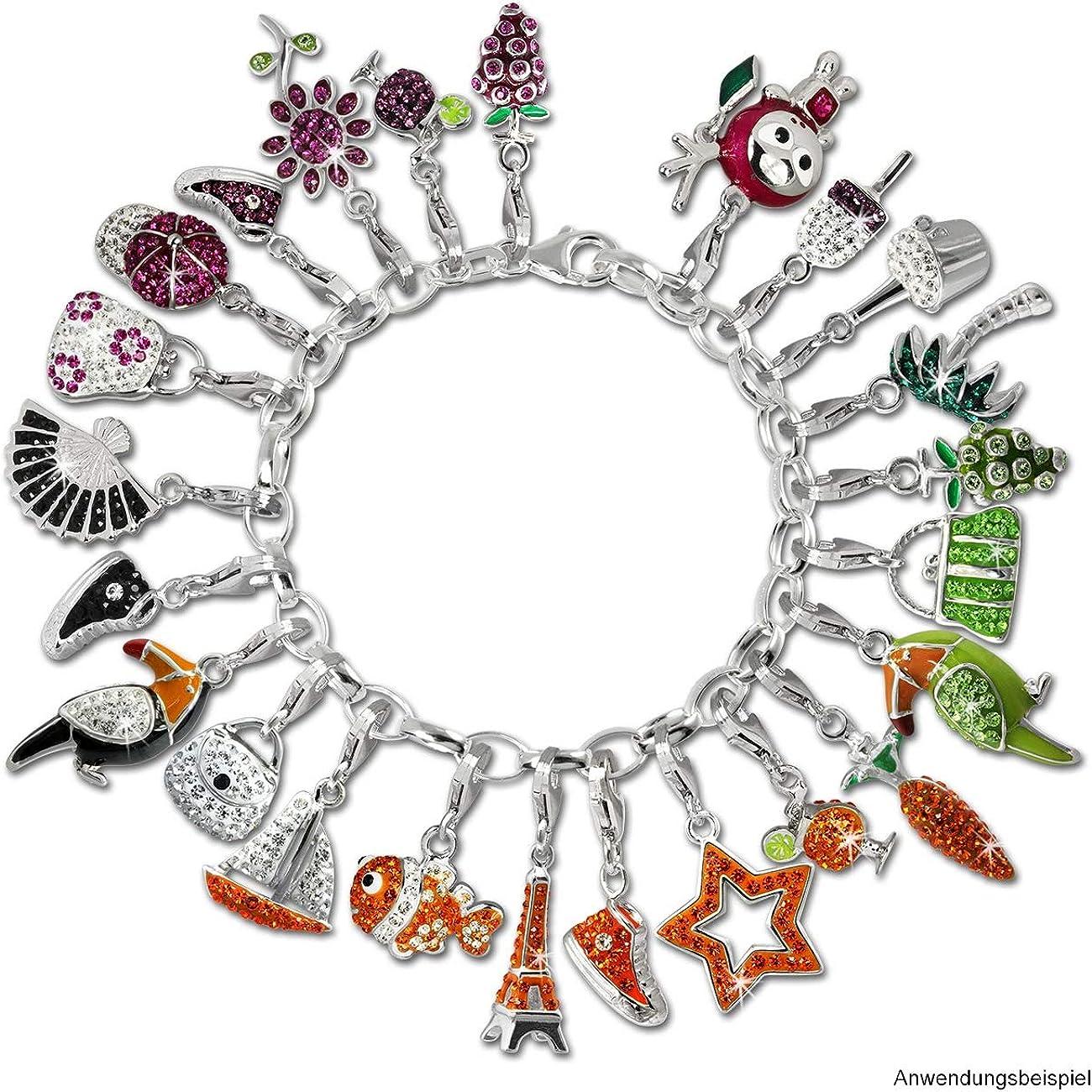 boucles doreilles SilberDream GSC522O Breloque scintillante en forme de poussins avec cristaux de zircone orange pour bracelets cha/înes