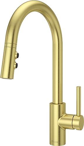 Pfister LG529SABG Stellen 1-Handle Pull Down Kitchen Faucet, Brushed Gold