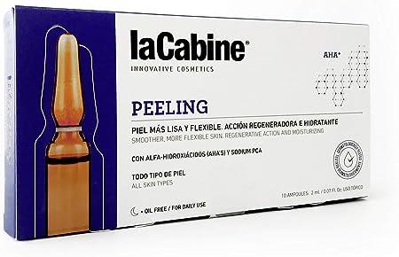 La Cabine Ampollas Peeling - Peeling Químico Facial - Renovación total de la Piel: Exfoliante, Antiarrugas, Antiacné y Antimanchas - 10x2ml