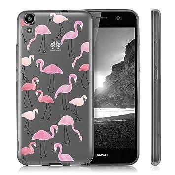 Huawei Y6 II Funda , ivencase Transparente Silicona TPU de Flexibilidad Carcasa Case Bumper Ultra Delgado Espalda Case Cover para Huawei Y6II / Huawei ...