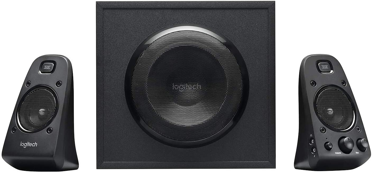 Logitech Z623 THX 2.1 Sistema de Altavoces con Subwoofer, Certificado THX Audio, 400 Vatios de Pico, Graves Potentes, Entradas de 3.5 mm/RCA, Enchufe EU, Multi-Dispositivos PC/PS4/Xbox/TV/Móvil/Tablet