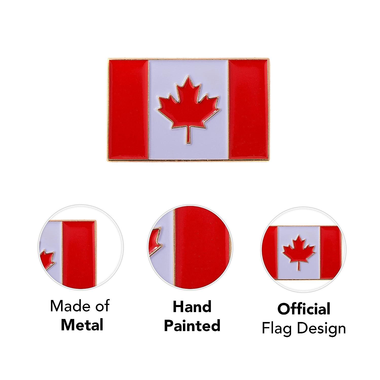eb818eac8 Amazon.com: Canada Canadian Country Rectangle Flag Lapel Pin Enamel Made of  Metal Souvenir Hat Men Women Patriotic: Arts, Crafts & Sewing