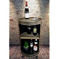 Livitat® Regal Beistelltisch Ölfass Tonne H80cm Industrie Look Loft Vintage