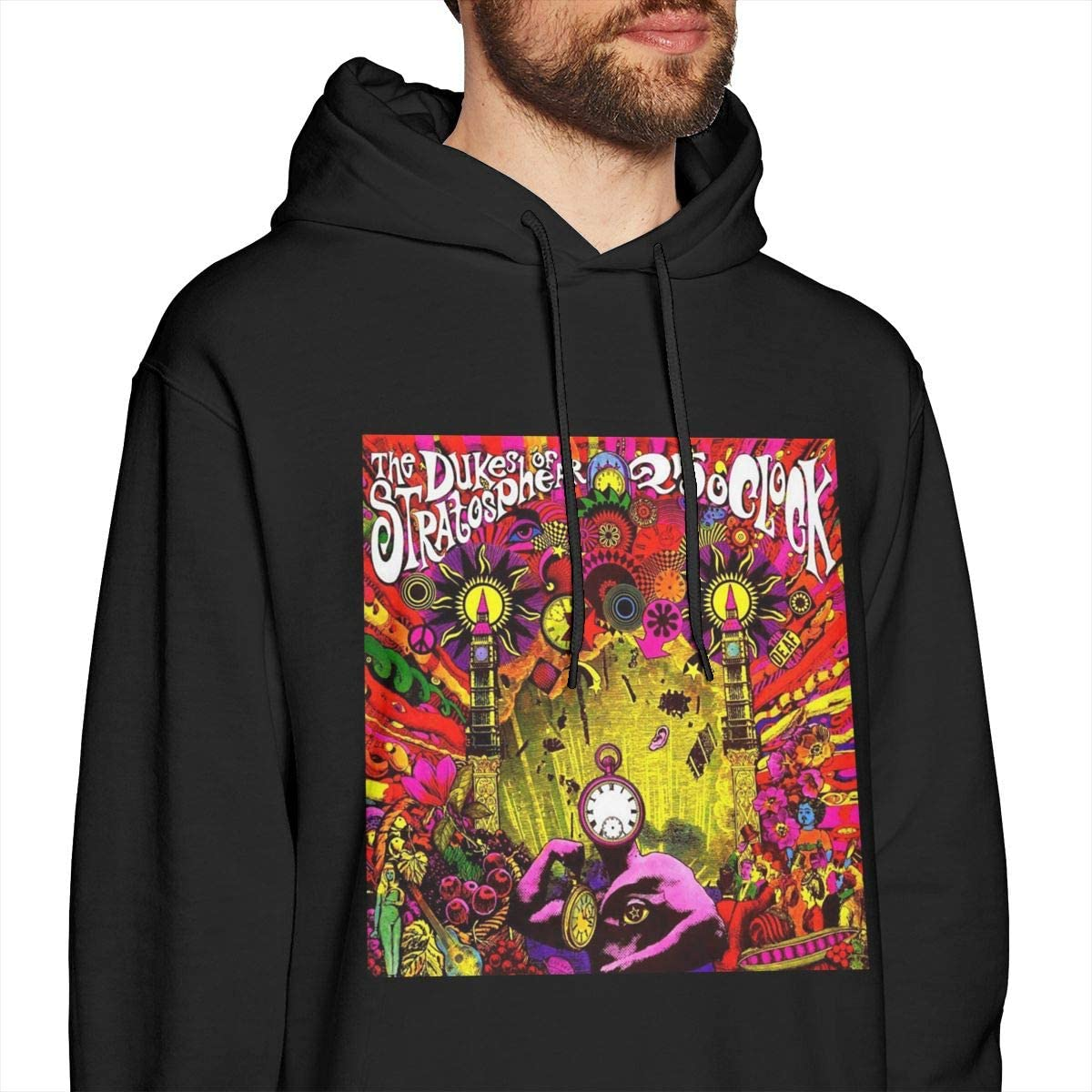 25 OClock Soft Black Hoodie Sweatshirt Jacket Pullover Tops Pekivide Mens XTC