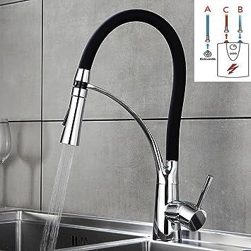 Küchenarmatur Niederdruck Wasserhahn für Küche Spültisch Armatur mischbatterie