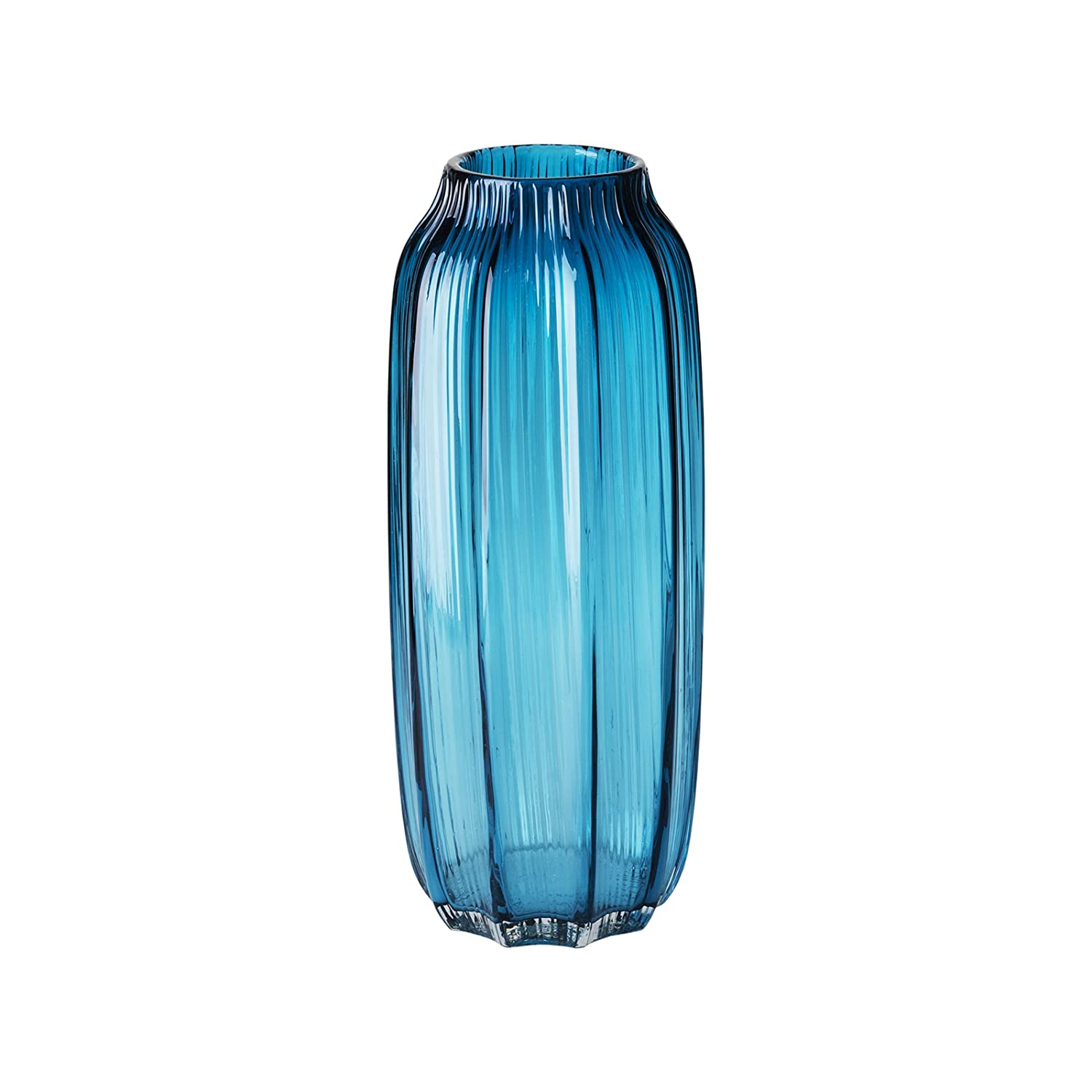 Amazon casamotion ribbed hand blown art glass vase gift amazon casamotion ribbed hand blown art glass vase gift boxed blue 12 inch home kitchen reviewsmspy