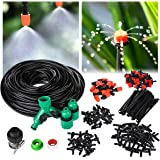 OUTERDO 40M Micro Drip Irrigation Kit,Patio Plant Watering Kit Garden Mist Cooling Irrigation System Automatic Micro Flow Drip Watering System with Distribution Tubing Hose Adjustable Nozzles (Type 2)