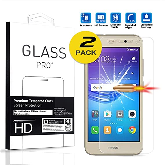 For Huawei Y5 lite 2017 Screen Protector Tempered Glass Smartphone  Protective Film (pack 2)