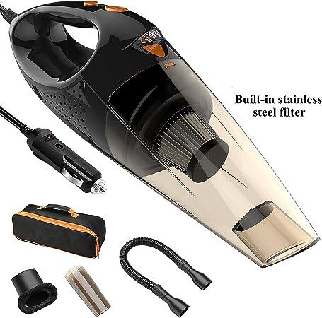 Auto 12 V portátil Wet/Dry – Aspiradora de mano 14.8 ft cable de red de aspiradora con un Bolsa: Amazon.es: Hogar