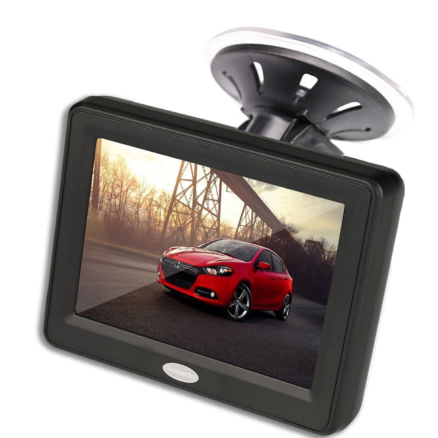 3.5'' Inch TFT LCD Car Color Rear View Monitor Screen for Parking Rear View Backup Camera With 2 Optional Bracket Chuanganzhuo CAZMN014