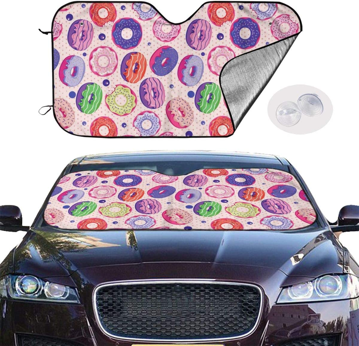 Winter Summer Earth Hand Visor Curtain All Season Protection Fits for Most Vehicles Universal Fit Windshield Sunshades Cover for Cars